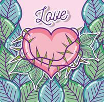 Niedliche Liebeskarikaturen