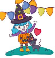 Halloween niedlichen Cartoons