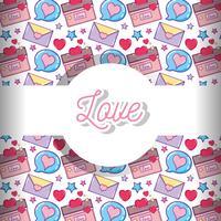 Kärlek och hjärtan mönster bakgrund