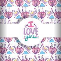 Kärlek och hjärtan mönster bakgrund vektor