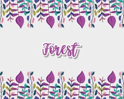 Forest Zierrahmen vektor