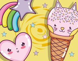 Katter och glass