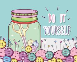 Gör det själv hantverk koncept