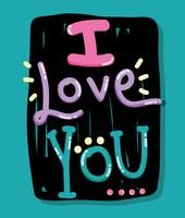 Ich liebe dich Karte