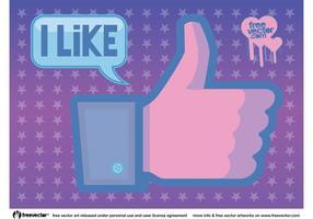 Facebook wie Vektor