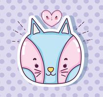 Nette Katzenkarikatur
