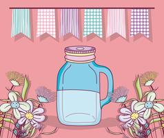 Einmachglas Party Zeichnung