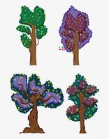 Set av träd vektor