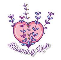 Blühende Liebeskarikaturen