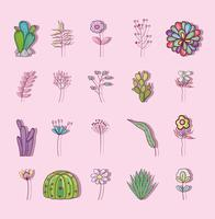 Set von Blumen vektor