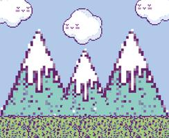 Pixelige Videospiellandschaft