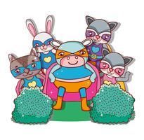 Superheld Tiere Cartoons