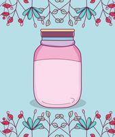 Masonburk med blommor