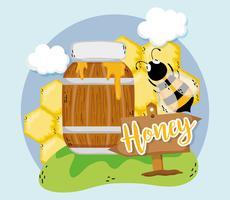Bewirtschaften Sie frischen Honig