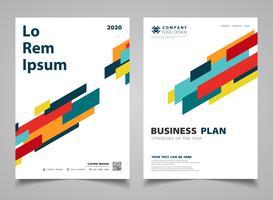 Sammanfattning färgglada moderna rand linjer design broschyr design bakgrund. illustration vektor eps10