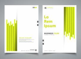 Abstrakt broschyr grön färg ny rand linje design mall dekoration. illustration vektor eps10