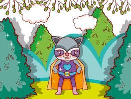 Superhero djur tecknad vektor