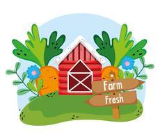 Farm färska teckningar vektor