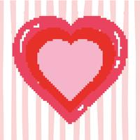 pixelated heart videgame