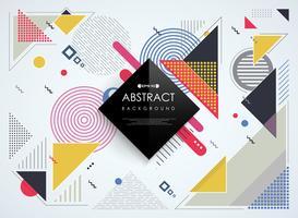 Abstrakt färgstarka Memphis geometriska mönster bakgrund.