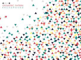 Abstrakt av färgglada triangeln geometriska mönster täcka bakgrund.