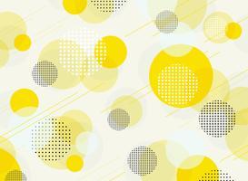 Zusammenfassung des einfachen runden geometrischen Musterhintergrundes des Blasengelbs.