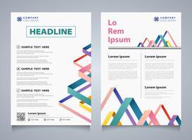 Sammanfattning färgrik randlinje överlapp broschyr företags företagsmall. Du kan använda för modern design av företagsbroschyr, bok, rapport, omslag, årlig. vektor