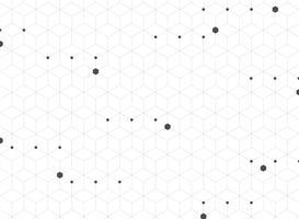 Zusammenfassung des geometrischen Hintergrundes des modernen grauen Pentagonmusters.