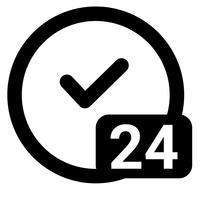 24 timmar tjänst tillgänglig ikon