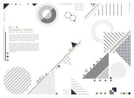Sammanfattning geometrisk komposition bildar modern design bakgrund. vektor