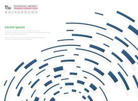 Abstraktes futuristisches Steigungsblau der geometrischen Linie Muster des Technologiestreifens.