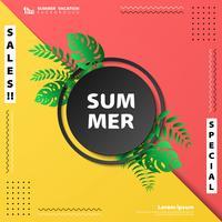 Abstrakt försäljning sommar semester färgstarkt täcke natur design bakgrund. illustration vektor eps10
