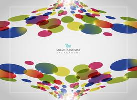 Abstrakt bakgrund av färgstarkt cirkelmönster med glitter.