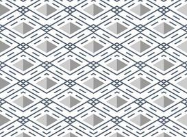 Abstrakt blå rand linje mönster kvadratisk geometrisk bakgrund. vektor