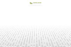 Abstrakt grå och vit cirkel pixel mönster täcker bakgrund. illustration vektor eps10