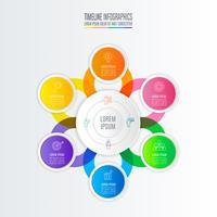 Infographik Design Geschäftskonzept mit 6 Optionen.