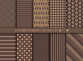 Abstrakt av deco mönster i set stil. vektor