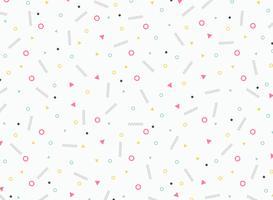Abstraktes buntes geometrisches Musterdesign des netten Elements und der Verzierung. Sie können für Anzeige, Plakat, Verpackung, Druck, Grafik verwenden. vektor