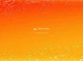 Orange und gelbe Farbe des abstrakten Steigungsvektors mit Kreistechnologie-Punktdekoration. Illustratin Vektor eps10