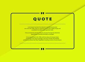 Abstrakt grönt papper cut citat vektor design för taltext kopia mall design. vektor eps10