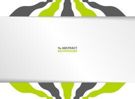 Abstrakte gewellte Linie schwarzer und grüner Farbstreifen auf weißem Schablonenhintergrund. Abbildung Vektor eps10