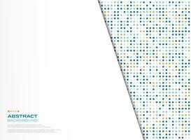 Quadratisches Musterdesign der neuen Technologie des abstrakten Vektors mit weißem Hintergrund. Abbildung Vektor eps10