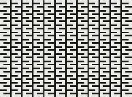 Svartvitt kvadratisk geometrisk mönsterdesign. vektor