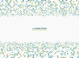 Abstraktes Vektortechnologiequadrat blauer und grüner moderner Abdeckungsdesignhintergrund. Abbildung Vektor eps10