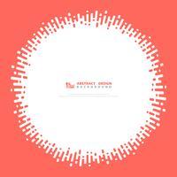 Abstrakt vektor rand vågig cirkel design rosa färg. illustration vektor eps10