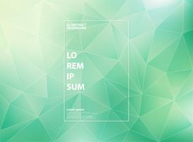 Abstrakt modern gradientgrön mint med låg polygon triangelmönster med vit konturer stil. vektor