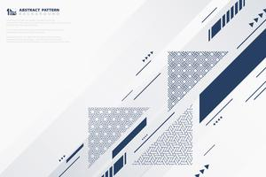 Abstraktes Musterdesign des Vektorhintergrundes des geometrischen Stils der blauen Abdeckung. Abbildung Vektor eps10