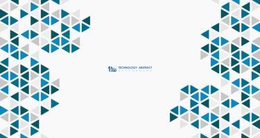 Abstrakter breiter blauer Würfel der geometrischen sechseckigen niedrigen Musterdesigntechnologie. Abbildung Vektor eps10