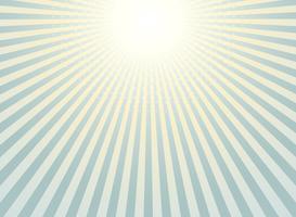 Abstrakt solstrål bakgrund tappning av halvtons mönster design. vektor