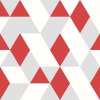 Nahtlose Art des abstrakten roten Dreieckvektormuster-Designs auf weißem grauem Hintergrund. Abbildung Vektor eps10